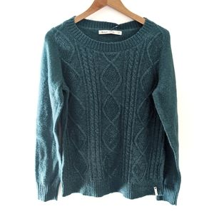 NWat Woolrich Cable Knit Mohair Sweater Teal